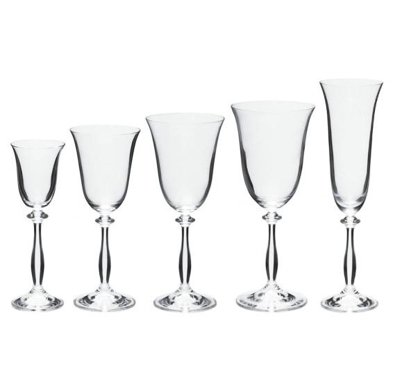 Jogo 30 taças cristal ecológico angela bohemia