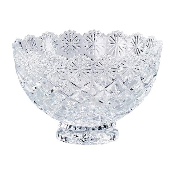 Fruteira de cristal diamond 20 cm lyor