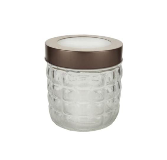 Pote vidro borossilicato c/tampa hash 11x12cm