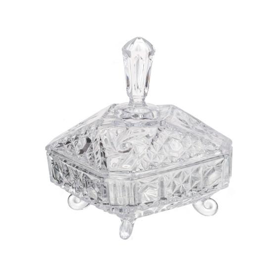 Bomboniere cristal 20 cm paladium lyor