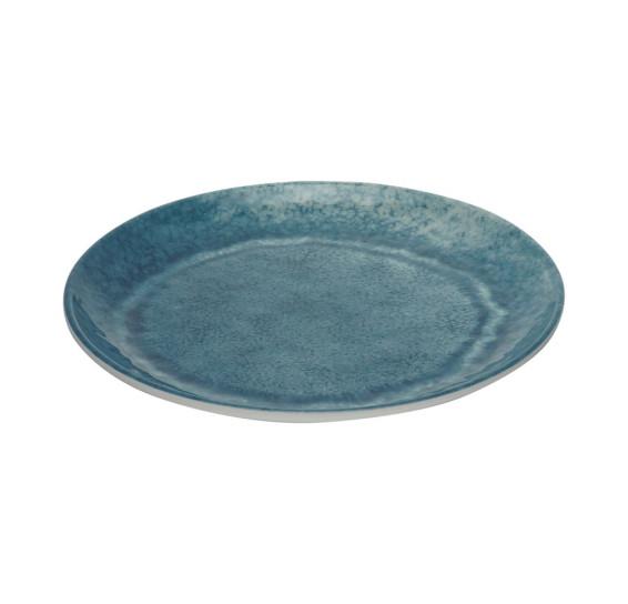 Prato sobremesa melamina aqua azul 22cm