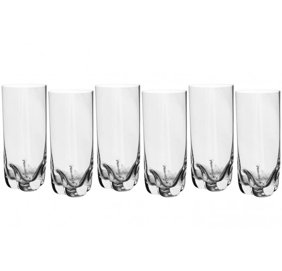 Jogo 06 copos água cristal barline bohemia