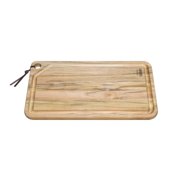 Tábua para churrasco 49 x 28 cm madeira tramontina