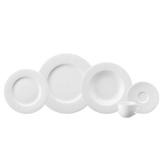 Jogo de jantar 30 peças porcelana sol schmidt
