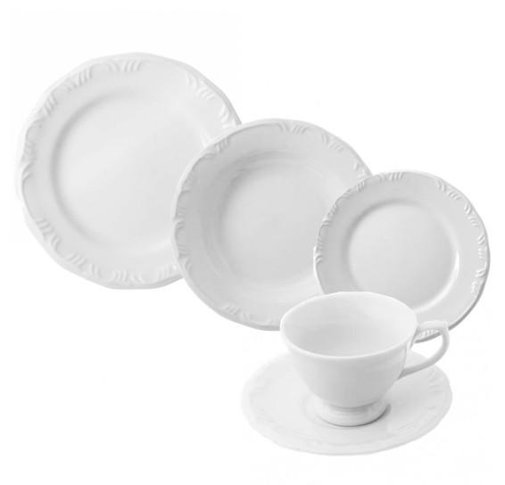 Jogo jantar 30 peças porcelana pomerode schmidt