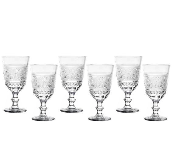 Jogo 06 taças para vinho 330 ml buske bon gourmet
