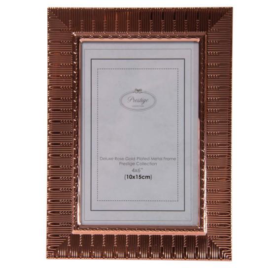 Porta retrato de aço life rose gold 10 x 15 cm