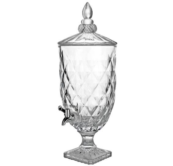 Dispensador de bebidas 4.9 l vidro diamond lyor