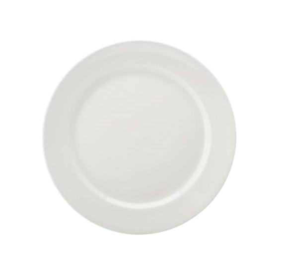 Prato sobremesa 19 cm porcelana branco schmidt
