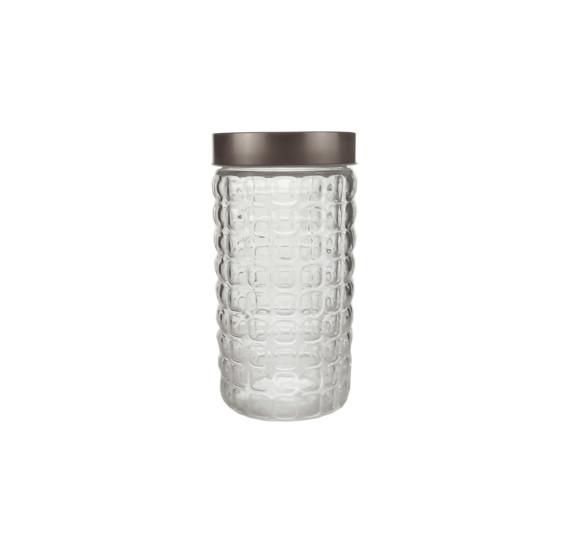 Pote vidro borossilicato c/tampa hash 11x27cm