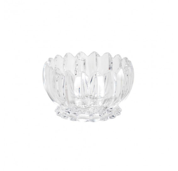 Conjunto 06 bowls decorativos de cristal geneva 11 x 6,5 cm