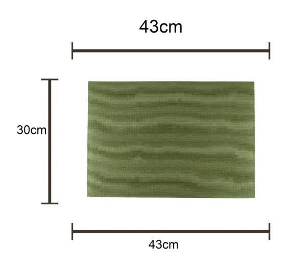 Lugar americano pvc verde 43x30cm royal decor.