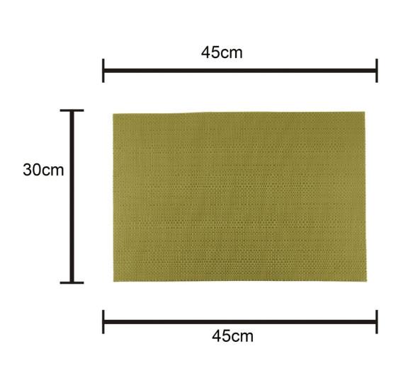 Lugar americano pvc dourado 45x30cm royal decor .