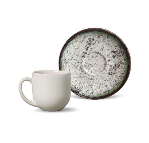 Jogo de xicara p/ Cafe Coup Cosmic Green
