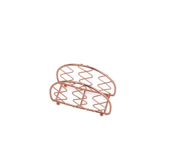 Porta guardanapo de ferro cromado rose 13x5x9.5 cm
