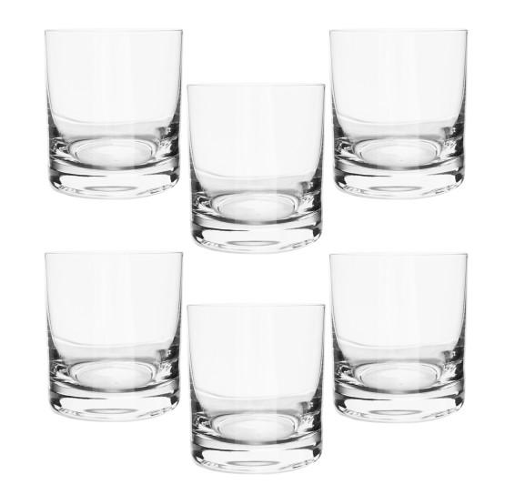 Jogo de copos 06 pcs cristal whisky 280 ml bohemia
