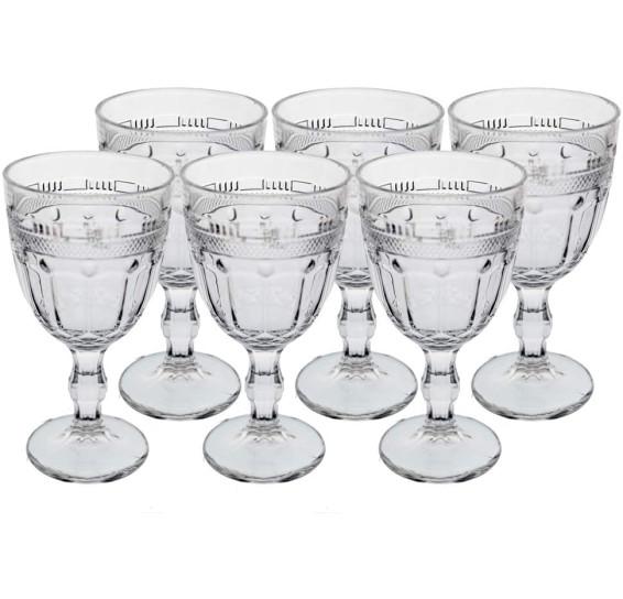 Jogo de 06 taças classica em cristal ecologico 320 ml