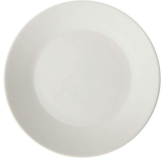 Prato p/sobremesa de porcelana clean 20,5x1,8cm