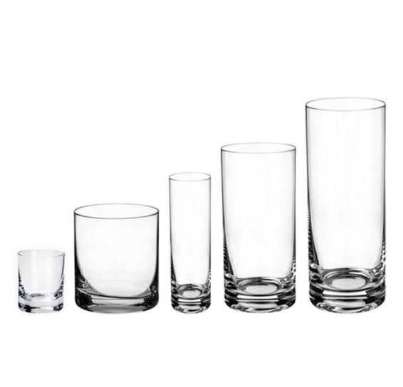 Jogo 30 copos barline cristal bohemia