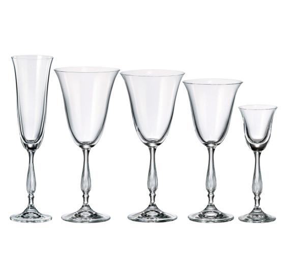 Jogo 30 taças cristal antik bohemia