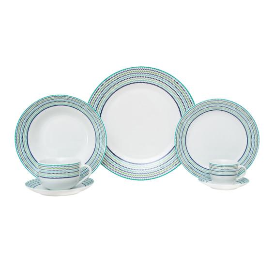 Aparelho de jantar 42 peças de porcelana class home