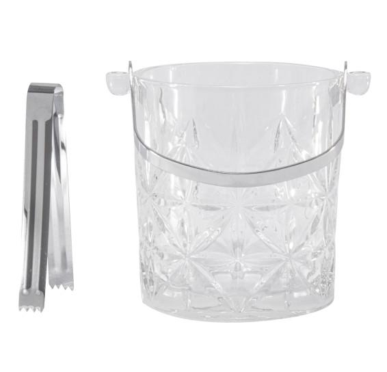 Balde de Gelo Vidro Romano 1 Litro Bon Gourmet