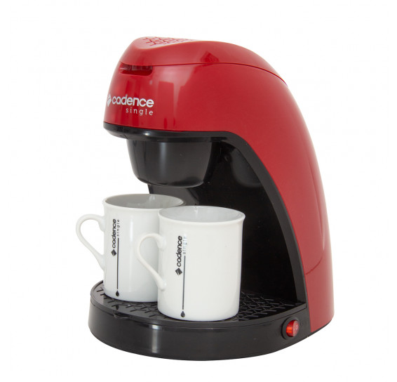 Cafeteira single colors vermelha cereja 127v cadence