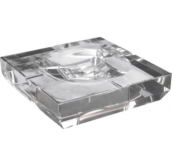 Cinzeiro em cristal quadrado prestige