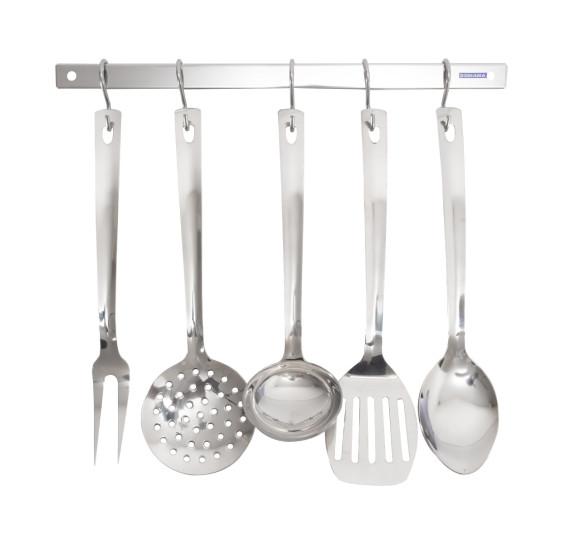Conjunto utensílios para cozinha 5 peças essence domama