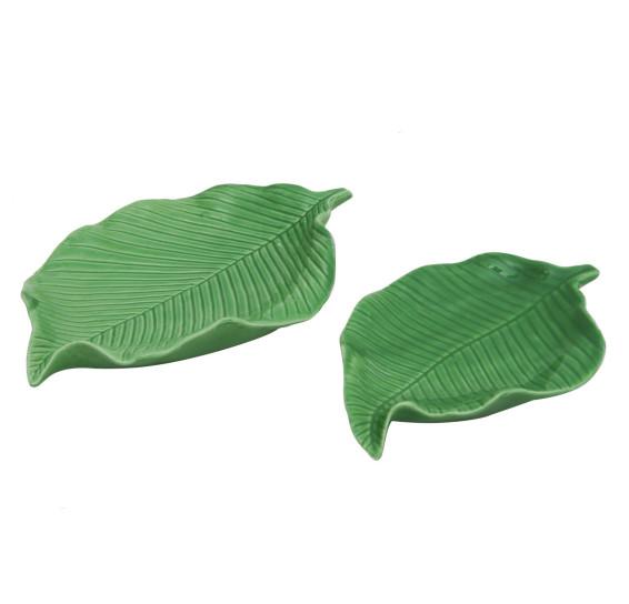 Kit folha verde em ceramica 2 pcs mart