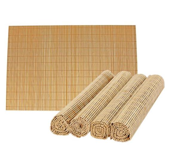 Jogo 04 americano em bamboo 30 x 45 cm mimo