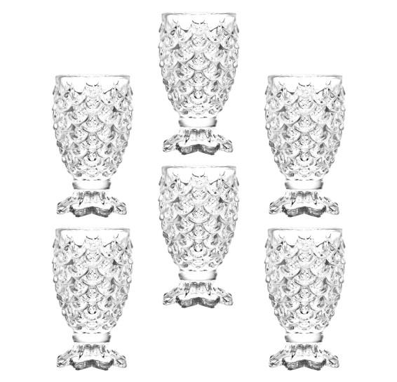 Jogo de 6 taças de vidro para shot pineapple 35 ml lyor