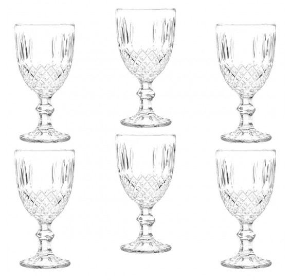 Jogo de 6 taças de vidro greek transparente 220 ml bon gourmet