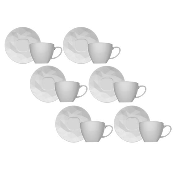 Jogo 06 xícaras para chá edros germer