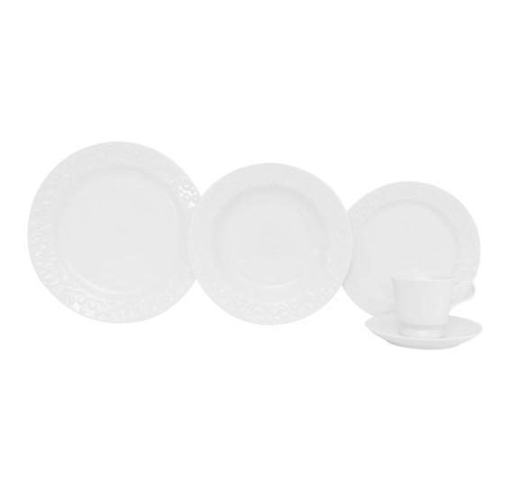 Jogo de jantar 20 peças tassel porcelana germer porcelanas
