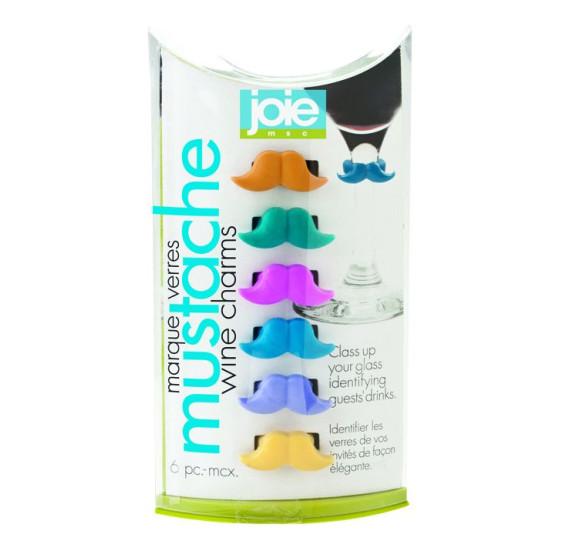 Jogo de marcadores de taças bigode