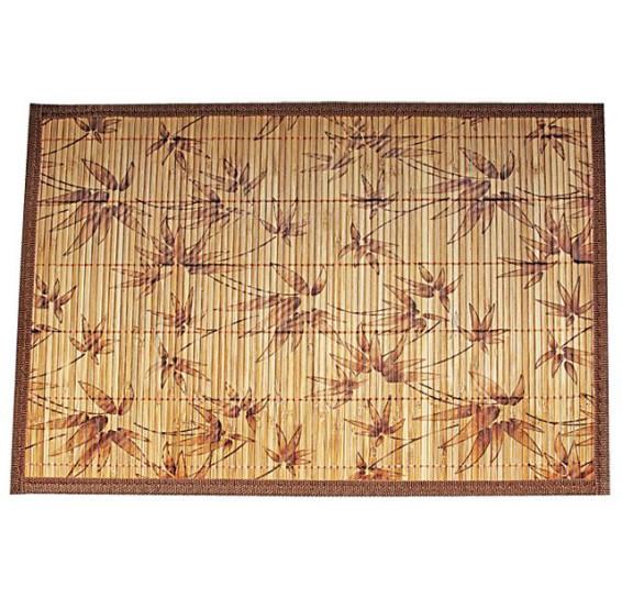 Lugar americano em bambu cru floral 45 cm mimo