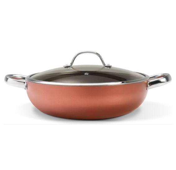 Panela wok c/ tampa 3.55 l alumínio curry brinox