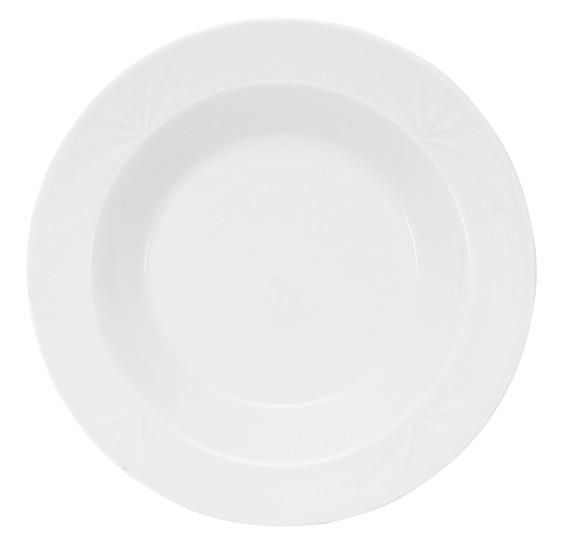 Prato fundo fountain porcelana branca 355 ml corona yoi