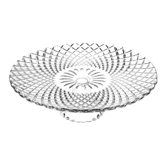 Prato para bolo de vidro 31 x 9 cm bon gourmet