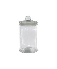 Porta mantimento redondo em vidro c/tampa 600ml d10xa18 cm dynasty