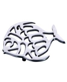 Descanso para panela peixe 17x16 cm alumínio