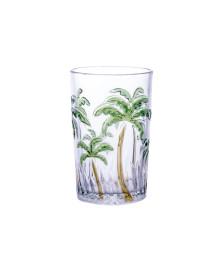 Jogo de copos agua palm tree color class home