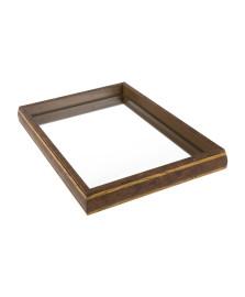 Bandeja espelhada 47 x 27 cm bisote woodart