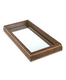Bandeja espelhada 37 x 27 cm bisote woodart