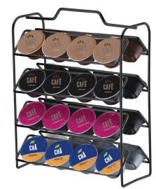 Organizador para capsulas de cafe 03 coracoes onix future