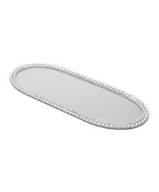 Bandeja espelhada oval 20 cm multiuso prestige