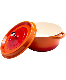 Caçarola 6.8 l redonda aluminio laranja hercules