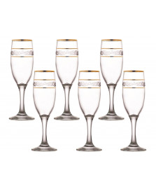 Jogo 06 taças champagne 190 ml sultan misket lav