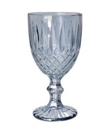 Jogo 06 taças vidro para agua greek cinza 345 ml